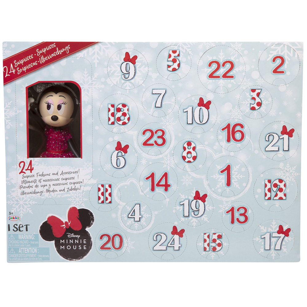Disney Minnie Mouse Disney Minnie Mouse Advent Calendar 24 Day Holiday Theme Surprise Fashions & Accessories