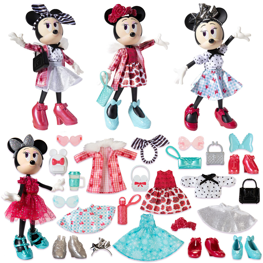 Disney Minnie Mouse Doll Trendy Traveler Fashion Doll