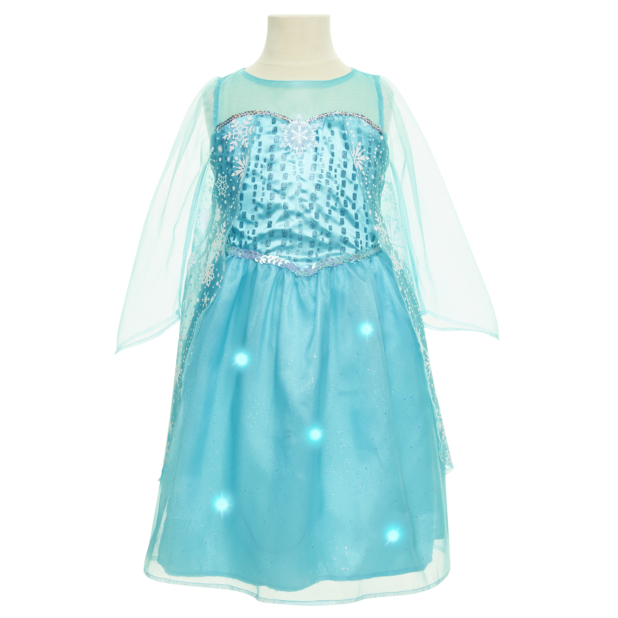 Snowflake Sparkle Elsa Music & Lights Dress Disney Frozen