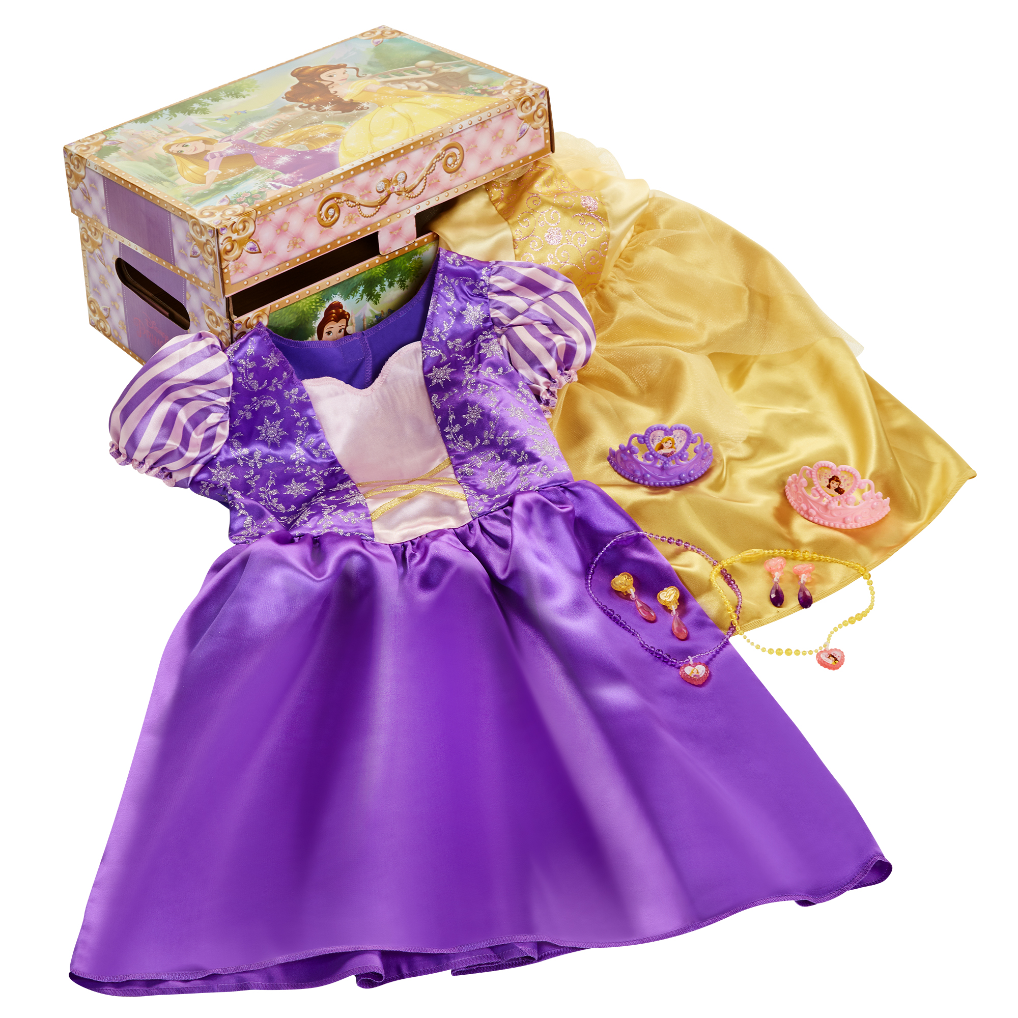 Belle and Rapunzel Dress Up Trunk Disney Princess