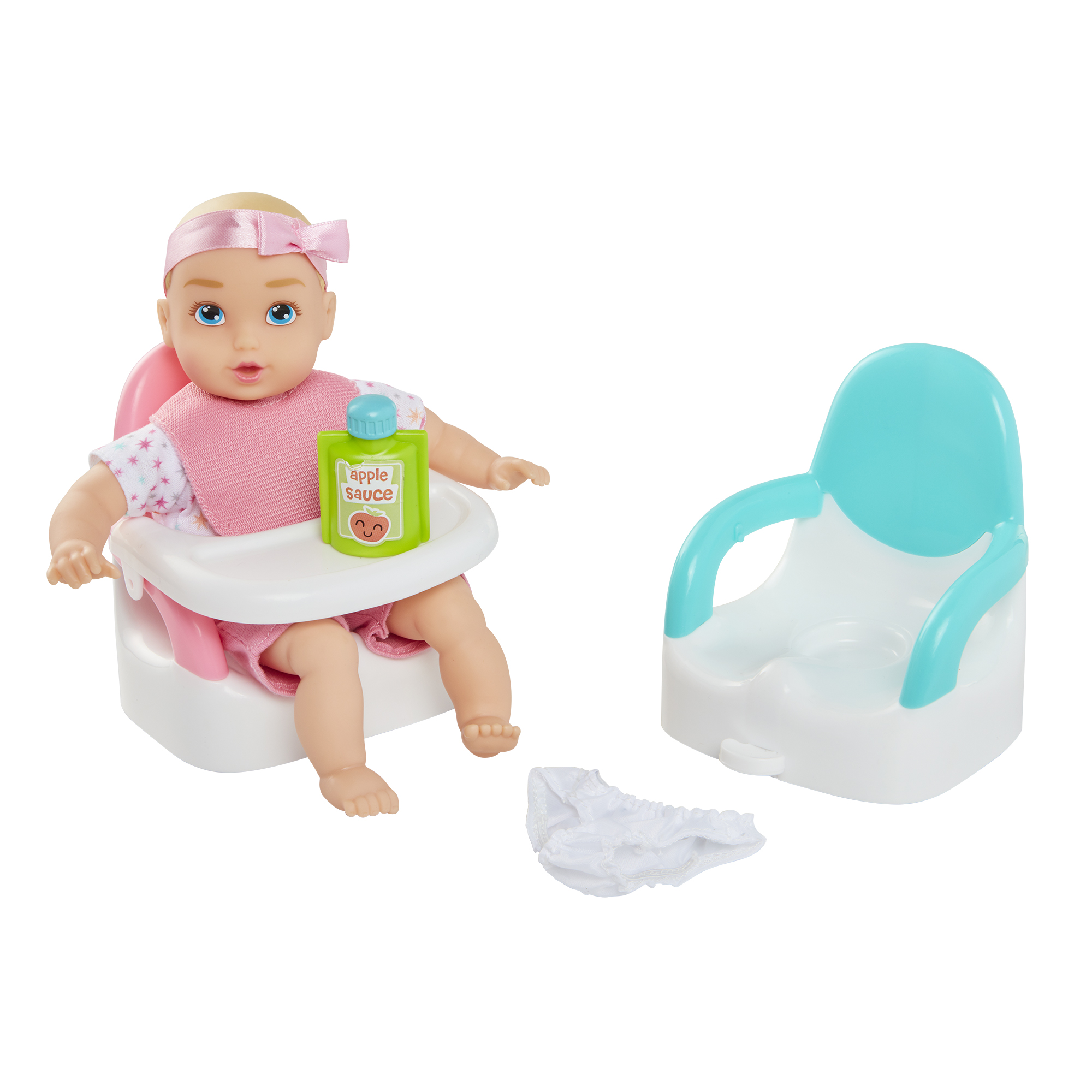 Perfectly Cute Baby Feed & Go Playset With 8 inch My Lil' Baby Girl Doll