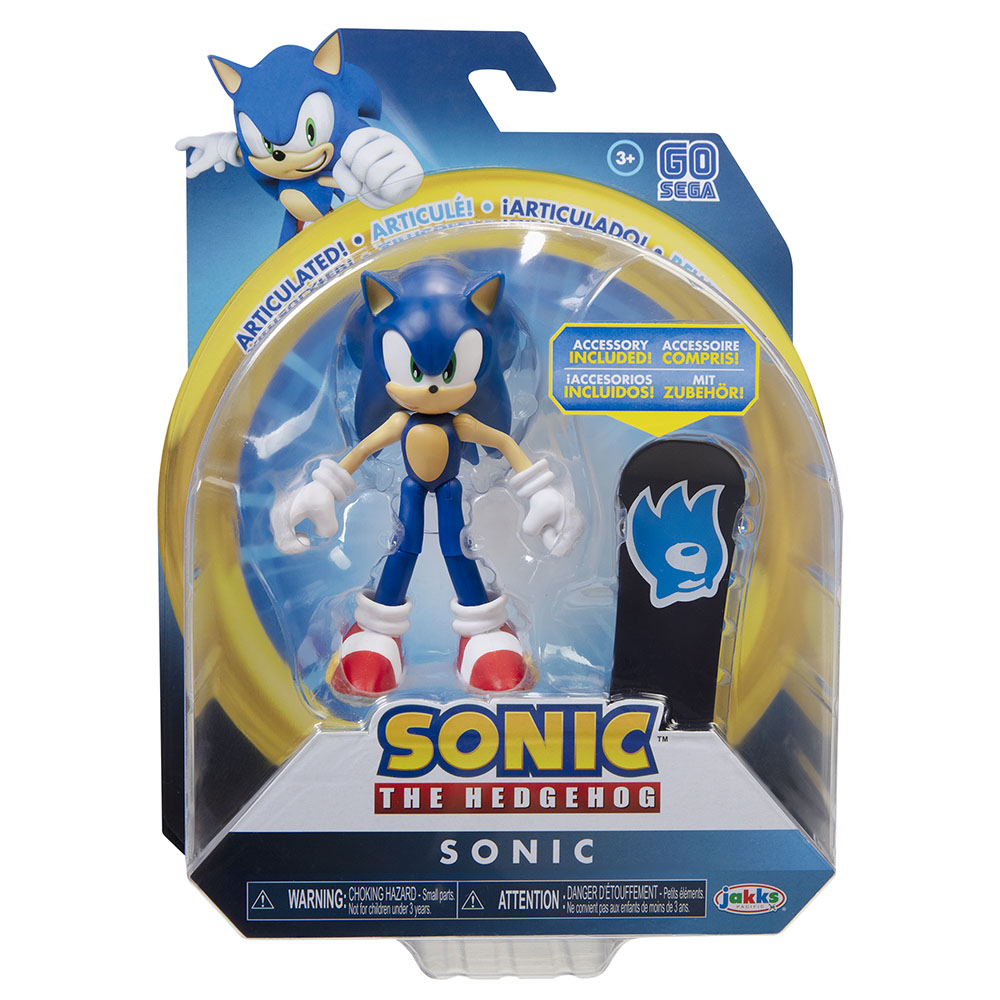 Sonic the Hedgehog - 4in Articulated Figures w/ accessory Wave 2 - Sonic