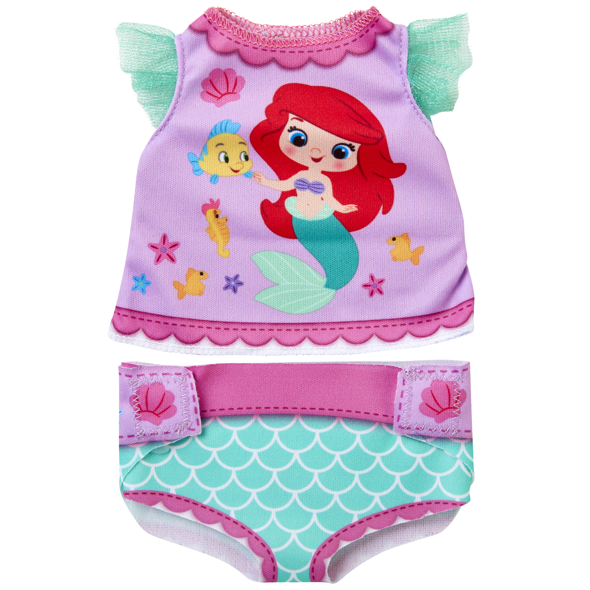 Ariel Diaper Dress Up Doll Accessory Pack